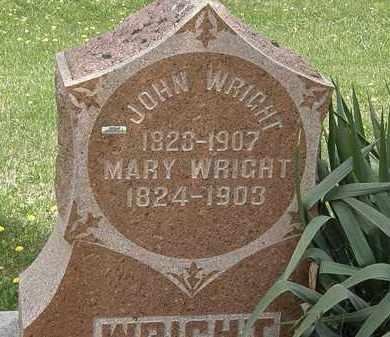 WRIGHT, MARY - Wyandot County, Ohio   MARY WRIGHT - Ohio Gravestone Photos