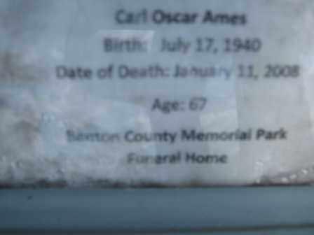 AMES, CARL OSCAR - Adair County, Oklahoma | CARL OSCAR AMES - Oklahoma Gravestone Photos