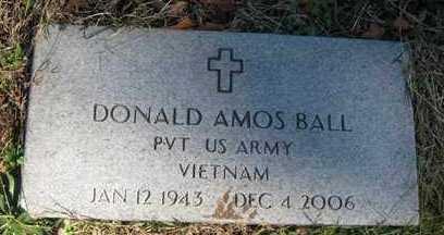 BALL (VETERAN VIET), DONALD AMOS - Adair County, Oklahoma | DONALD AMOS BALL (VETERAN VIET) - Oklahoma Gravestone Photos