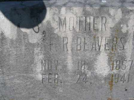 BEAVERS, FRANCES ROSETTA - Adair County, Oklahoma   FRANCES ROSETTA BEAVERS - Oklahoma Gravestone Photos