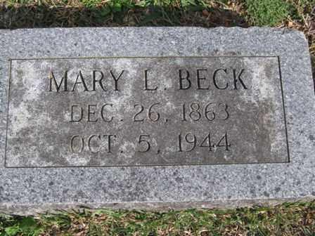 BECK, MARY L. - Adair County, Oklahoma   MARY L. BECK - Oklahoma Gravestone Photos