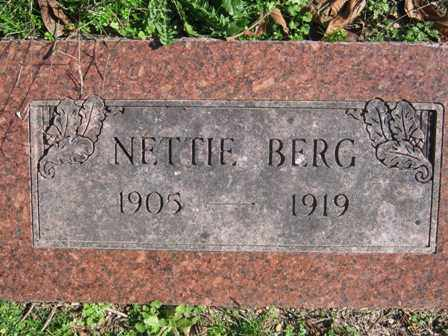 BERG, NETTIE - Adair County, Oklahoma | NETTIE BERG - Oklahoma Gravestone Photos