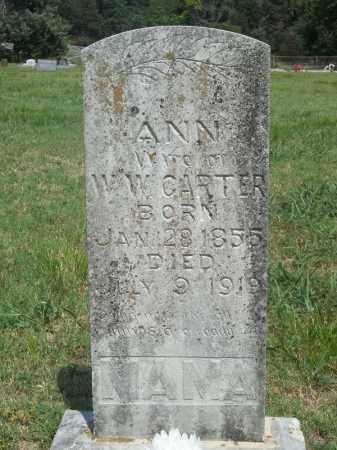 CARTER, ANN - Adair County, Oklahoma | ANN CARTER - Oklahoma Gravestone Photos