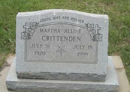 "CRITTENDEN, MARTHA ""ALLINE"" - Adair County, Oklahoma   MARTHA ""ALLINE"" CRITTENDEN - Oklahoma Gravestone Photos"