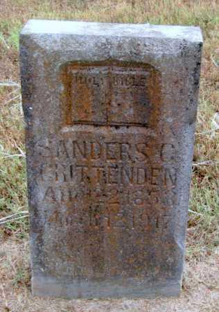 CRITTENDEN, SANDERS - Adair County, Oklahoma   SANDERS CRITTENDEN - Oklahoma Gravestone Photos