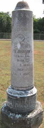 JOHNSON (VETERAN CSA), J. W. - Adair County, Oklahoma   J. W. JOHNSON (VETERAN CSA) - Oklahoma Gravestone Photos