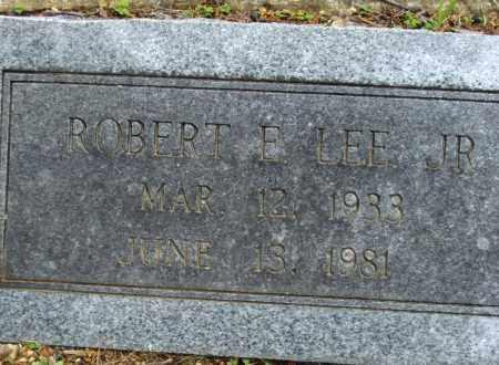 LEE JR, ROBERT E - Adair County, Oklahoma | ROBERT E LEE JR - Oklahoma Gravestone Photos