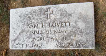 LOVETT (WORLD WAR II), SAM H - Adair County, Oklahoma | SAM H LOVETT (WORLD WAR II) - Oklahoma Gravestone Photos