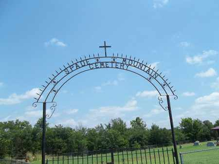 *SPADE MOUNTAIN CEMETERY SIGN, . - Adair County, Oklahoma | . *SPADE MOUNTAIN CEMETERY SIGN - Oklahoma Gravestone Photos