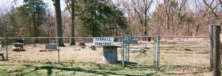 *TERRELL CEMETERY OVERVIEW, . - Adair County, Oklahoma | . *TERRELL CEMETERY OVERVIEW - Oklahoma Gravestone Photos