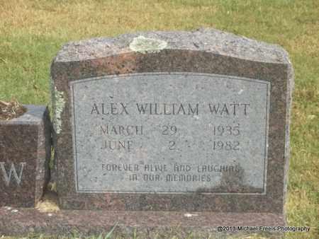 WATT, ALEX WILLIAM - Adair County, Oklahoma | ALEX WILLIAM WATT - Oklahoma Gravestone Photos