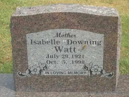 DOWNING WATT, ISABELLE - Adair County, Oklahoma | ISABELLE DOWNING WATT - Oklahoma Gravestone Photos