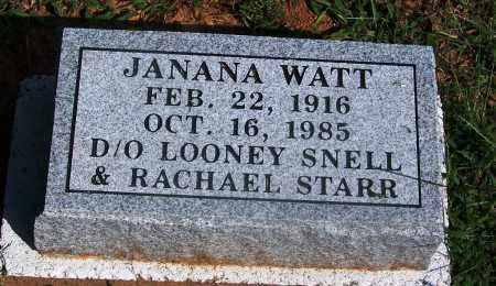 SNELL WATT, JANANA - Adair County, Oklahoma   JANANA SNELL WATT - Oklahoma Gravestone Photos
