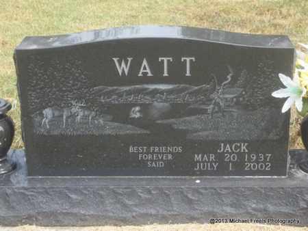 """WATT, JACKSON """"JACK"""" - Adair County, Oklahoma   JACKSON """"JACK"""" WATT - Oklahoma Gravestone Photos"""