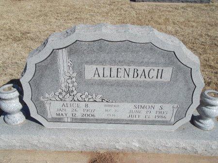 ALLENBACH, ALICE B - Alfalfa County, Oklahoma | ALICE B ALLENBACH - Oklahoma Gravestone Photos