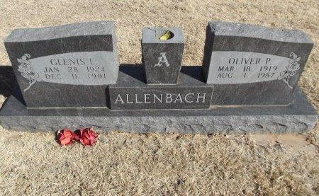 ALLENBACH, GLENIS L - Alfalfa County, Oklahoma | GLENIS L ALLENBACH - Oklahoma Gravestone Photos