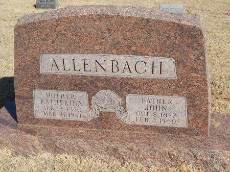 ALLENBACH, JOHN - Alfalfa County, Oklahoma   JOHN ALLENBACH - Oklahoma Gravestone Photos
