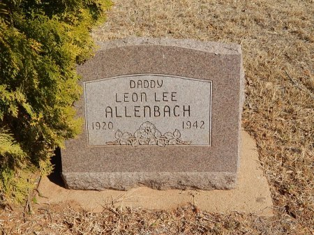ALLENBACH, LEON LEE - Alfalfa County, Oklahoma | LEON LEE ALLENBACH - Oklahoma Gravestone Photos