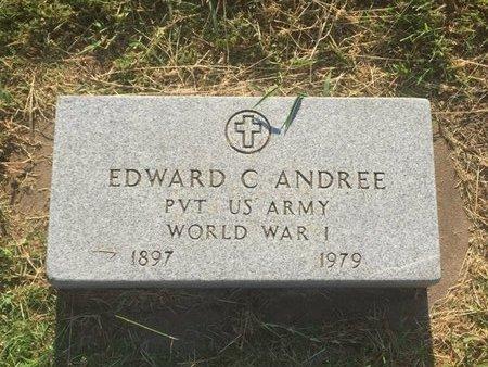 ANDREE (VETERAN WWI), EDWARD C - Alfalfa County, Oklahoma   EDWARD C ANDREE (VETERAN WWI) - Oklahoma Gravestone Photos