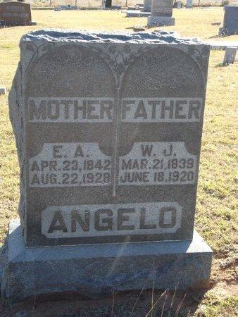 ANGELO, W J - Alfalfa County, Oklahoma | W J ANGELO - Oklahoma Gravestone Photos