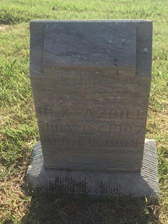 AZBILL, REX - Alfalfa County, Oklahoma | REX AZBILL - Oklahoma Gravestone Photos