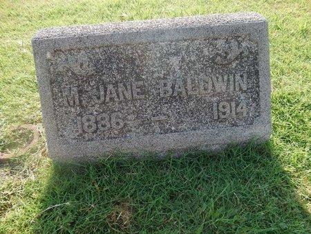 BALDWIN, M JANE - Alfalfa County, Oklahoma | M JANE BALDWIN - Oklahoma Gravestone Photos