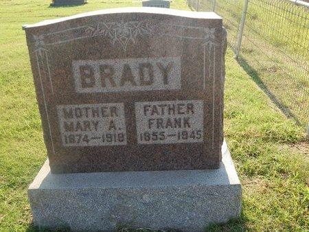 BRADY, FRANK - Alfalfa County, Oklahoma | FRANK BRADY - Oklahoma Gravestone Photos