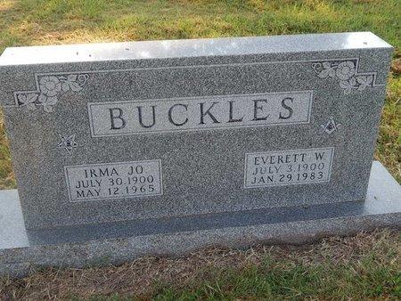 BUCKLES, EVERETT W - Alfalfa County, Oklahoma | EVERETT W BUCKLES - Oklahoma Gravestone Photos