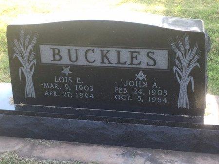 BUCKLES, LOIS E - Alfalfa County, Oklahoma | LOIS E BUCKLES - Oklahoma Gravestone Photos