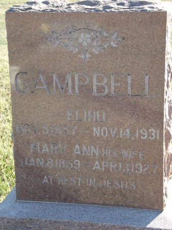 CAMPBELL, ELIHU - Alfalfa County, Oklahoma | ELIHU CAMPBELL - Oklahoma Gravestone Photos