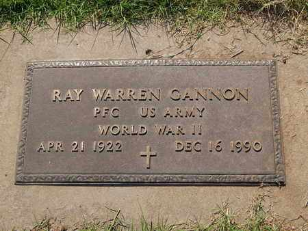 CANNON (VETERAN WWII), RAY WARREN - Alfalfa County, Oklahoma | RAY WARREN CANNON (VETERAN WWII) - Oklahoma Gravestone Photos