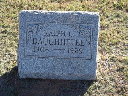 DAUGHHETEE, RALPH L - Alfalfa County, Oklahoma | RALPH L DAUGHHETEE - Oklahoma Gravestone Photos