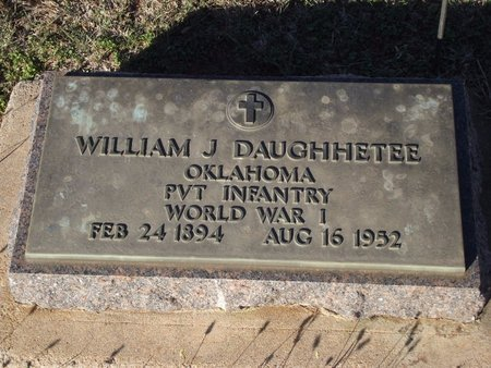 DAUGHHETEE (VETERAN WWI), WILLIAM J - Alfalfa County, Oklahoma | WILLIAM J DAUGHHETEE (VETERAN WWI) - Oklahoma Gravestone Photos