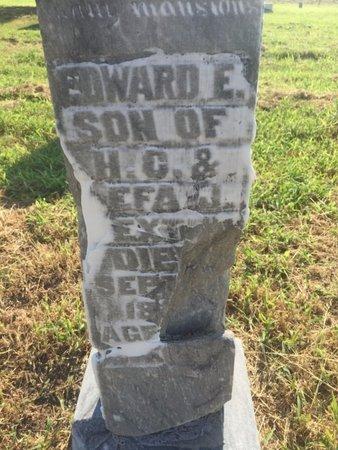 DEXTER, EDWARD E - Alfalfa County, Oklahoma | EDWARD E DEXTER - Oklahoma Gravestone Photos