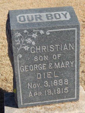 DIEL, CHRISTIAN - Alfalfa County, Oklahoma   CHRISTIAN DIEL - Oklahoma Gravestone Photos