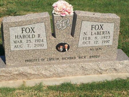 FOX, N LABERTA - Alfalfa County, Oklahoma | N LABERTA FOX - Oklahoma Gravestone Photos