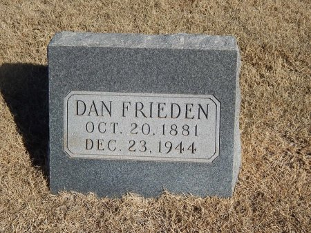 FRIEDEN, DAN - Alfalfa County, Oklahoma | DAN FRIEDEN - Oklahoma Gravestone Photos