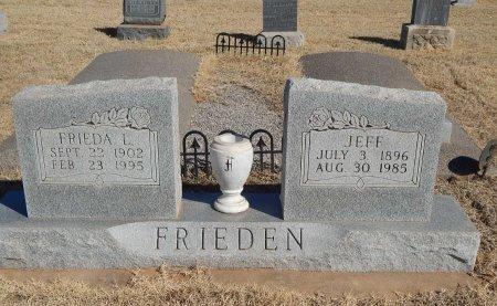 FRIEDEN, FRIEDA AND JEFF - Alfalfa County, Oklahoma | FRIEDA AND JEFF FRIEDEN - Oklahoma Gravestone Photos