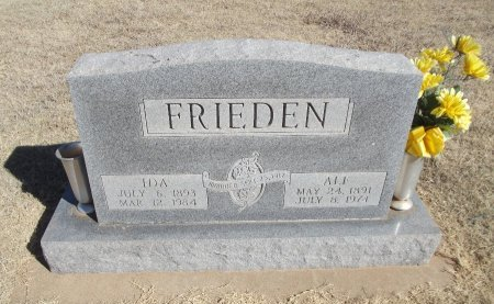FRIEDEN, ALF - Alfalfa County, Oklahoma | ALF FRIEDEN - Oklahoma Gravestone Photos