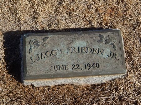 FRIEDEN, J JACOB JR - Alfalfa County, Oklahoma | J JACOB JR FRIEDEN - Oklahoma Gravestone Photos