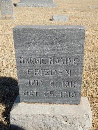 FRIEDEN, MARGIE MAXINE - Alfalfa County, Oklahoma | MARGIE MAXINE FRIEDEN - Oklahoma Gravestone Photos