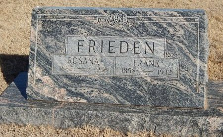 FRIEDEN, ROSANA - Alfalfa County, Oklahoma | ROSANA FRIEDEN - Oklahoma Gravestone Photos