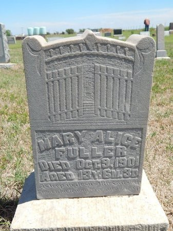 FULLER, MARY ALICE - Alfalfa County, Oklahoma | MARY ALICE FULLER - Oklahoma Gravestone Photos