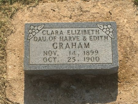 GRAHAM, CLARA ELIZABETH - Alfalfa County, Oklahoma | CLARA ELIZABETH GRAHAM - Oklahoma Gravestone Photos