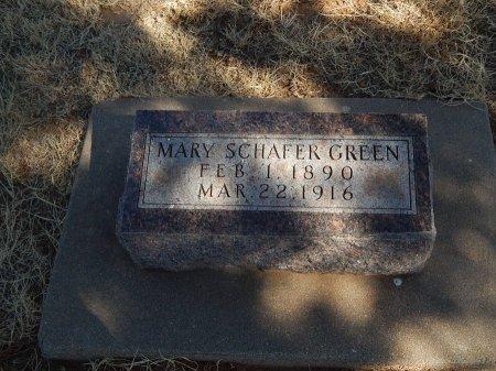 SCHAFER GREEN, MARY - Alfalfa County, Oklahoma | MARY SCHAFER GREEN - Oklahoma Gravestone Photos