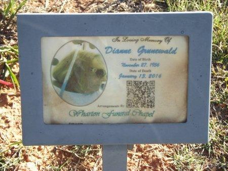 GRUNEWALD, DIANNE - Alfalfa County, Oklahoma | DIANNE GRUNEWALD - Oklahoma Gravestone Photos