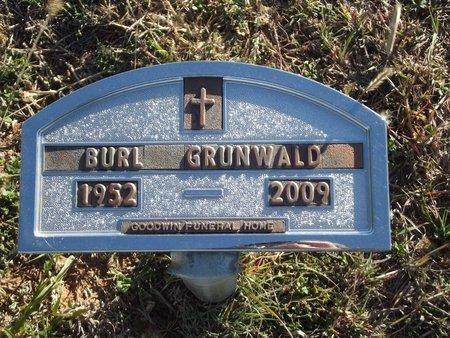 GRUNWALD, BURL - Alfalfa County, Oklahoma | BURL GRUNWALD - Oklahoma Gravestone Photos