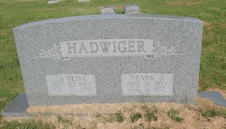 HADWIGER, ISA OLIVE - Alfalfa County, Oklahoma | ISA OLIVE HADWIGER - Oklahoma Gravestone Photos