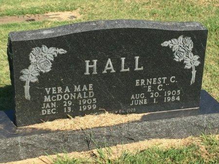 MCDONALD HALL, VERA MAE - Alfalfa County, Oklahoma   VERA MAE MCDONALD HALL - Oklahoma Gravestone Photos