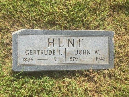 HUNT, GERTRUDE I - Alfalfa County, Oklahoma   GERTRUDE I HUNT - Oklahoma Gravestone Photos